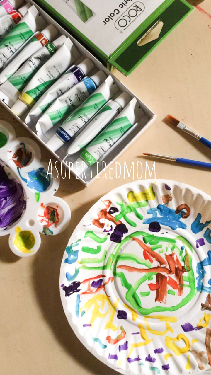 PAINTING FUN AT HOME WITH KIDS-WINTER HOLIDAYS ACTIVITIES